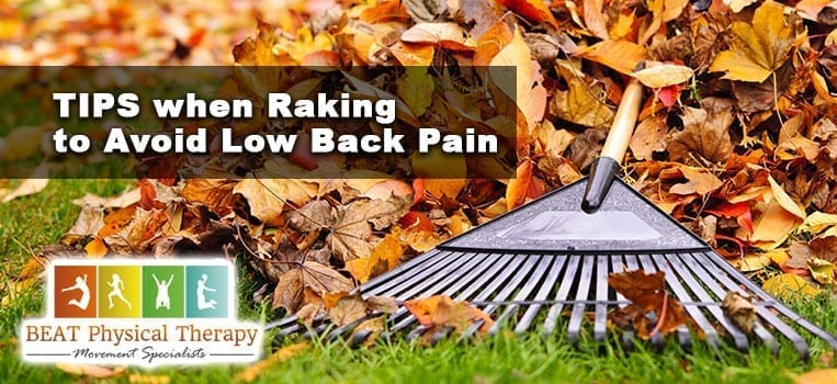 Tips for Raking and Avoid Low Back Pain or Shoulder Injury